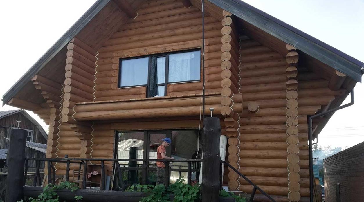 Электромонтаж в деревянном доме 300 кв.м