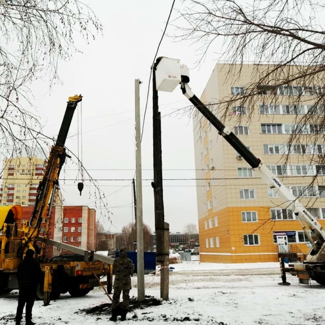 Монтаж железо-бетонных опор